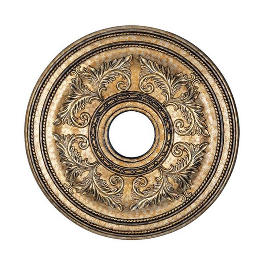 Livex Lighting Vintage Gold Leaf Ceiling Medallion