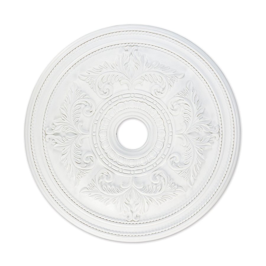 Ceiling Light Medallions Lowes : Livex lighting white ceiling medallion at lowes