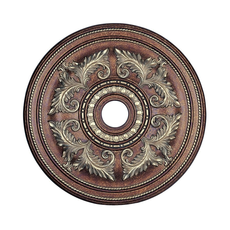 Ceiling Light Medallions Lowes : Livex lighting palacial bronze ceiling medallion at