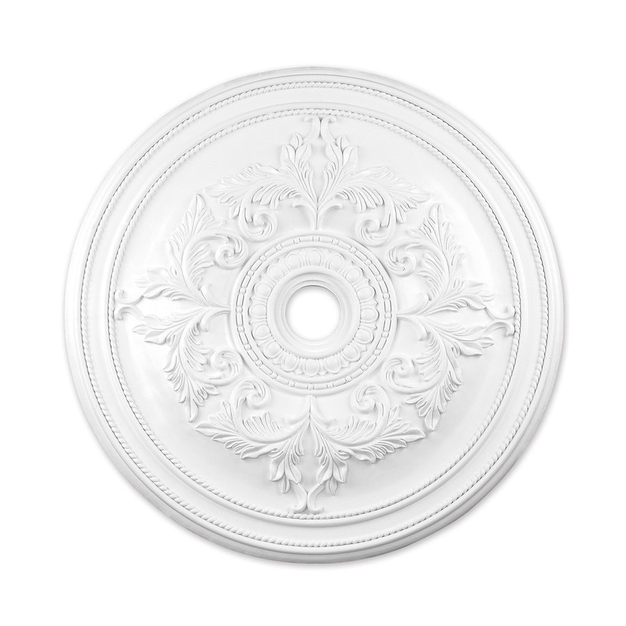 Ceiling Rosettes At Lowe S : Shop livex lighting white ceiling medallion at lowes