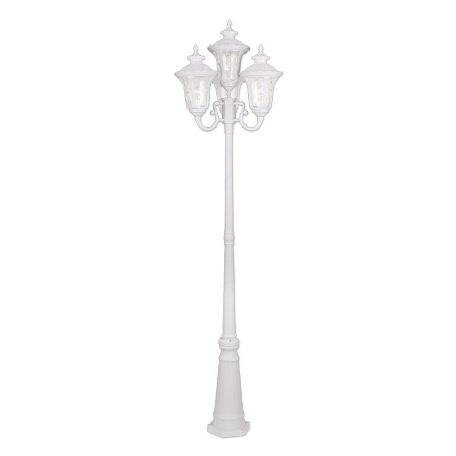 Livex Lighting Oxford 93-in H White Standard Complete Post Light