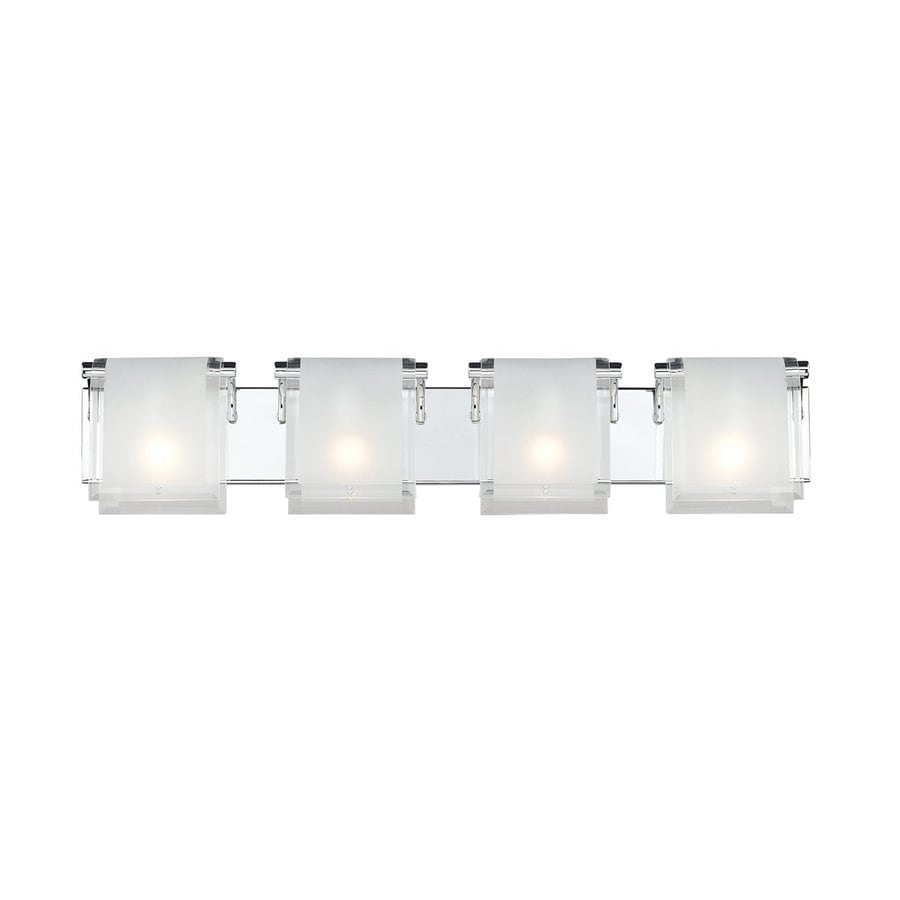 Z-Lite 4-Light Zephyr Chrome Standard Bathroom Vanity Light