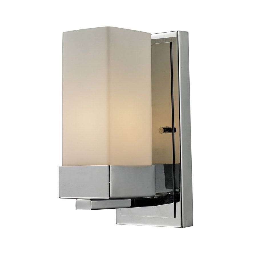 Z-Lite Sapphire 4.5-in W 1-Light Chrome Arm Hardwired Wall Sconce