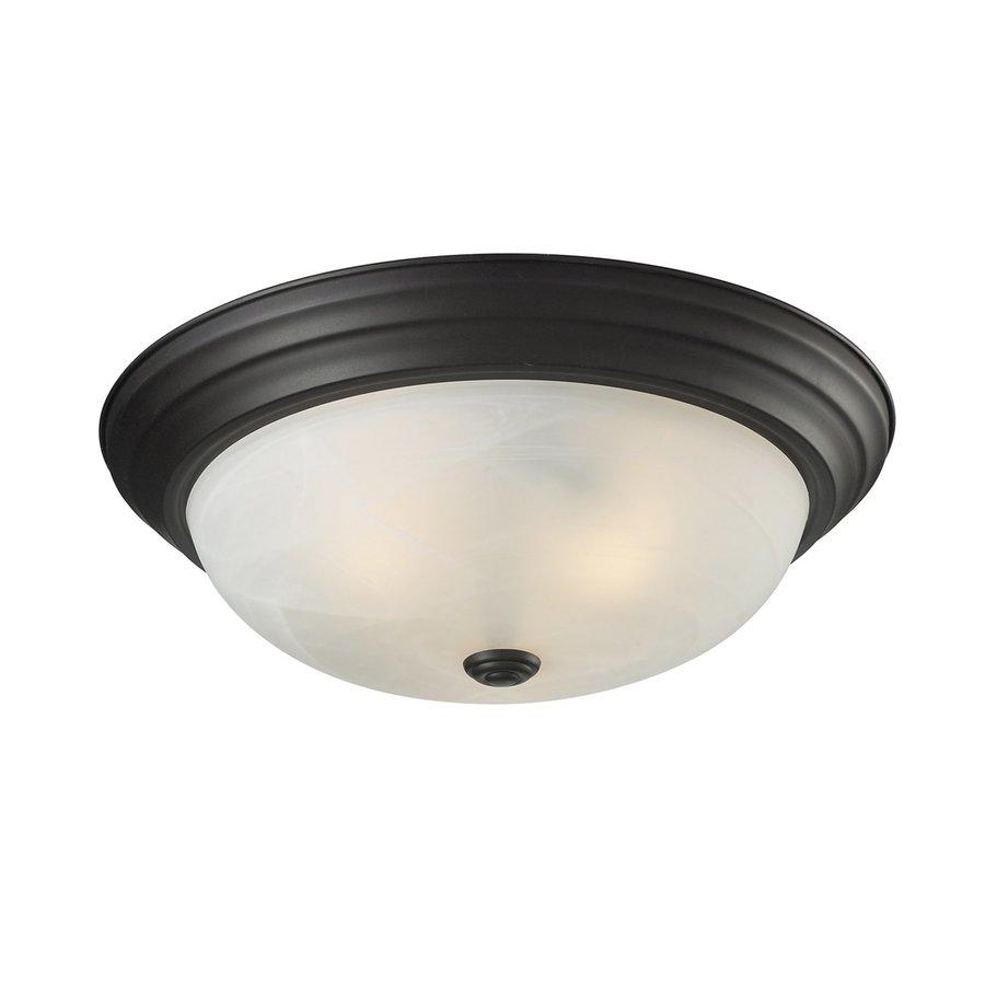 Z-Lite Athena 15-in W Bronze Ceiling Flush Mount Light