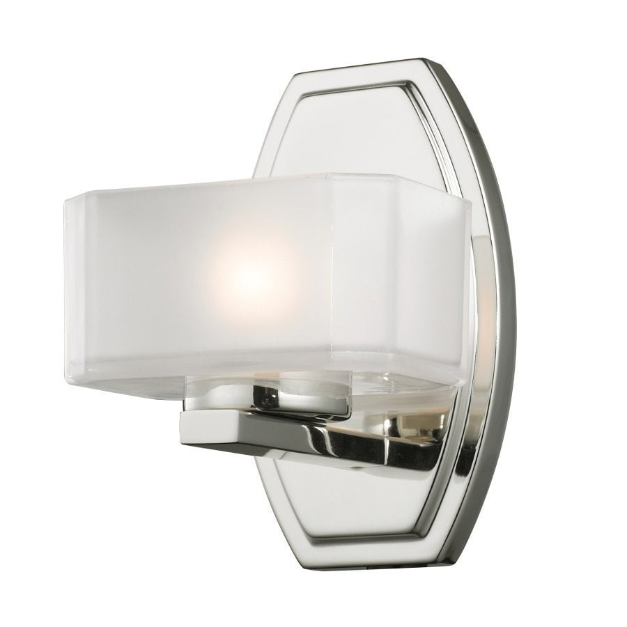 Z-Lite Cabro 5.5-in W 1-Light Chrome Arm Hardwired Wall Sconce