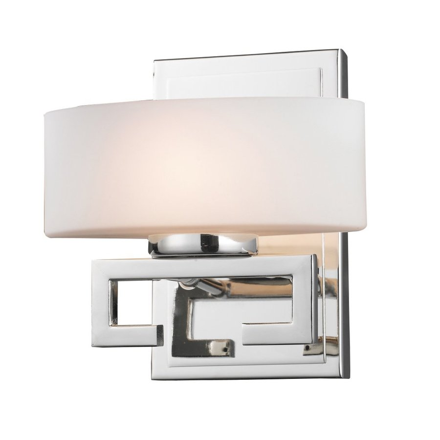 Z-Lite Cetynia 7.5-in W 1-Light Chrome Arm Hardwired Wall Sconce