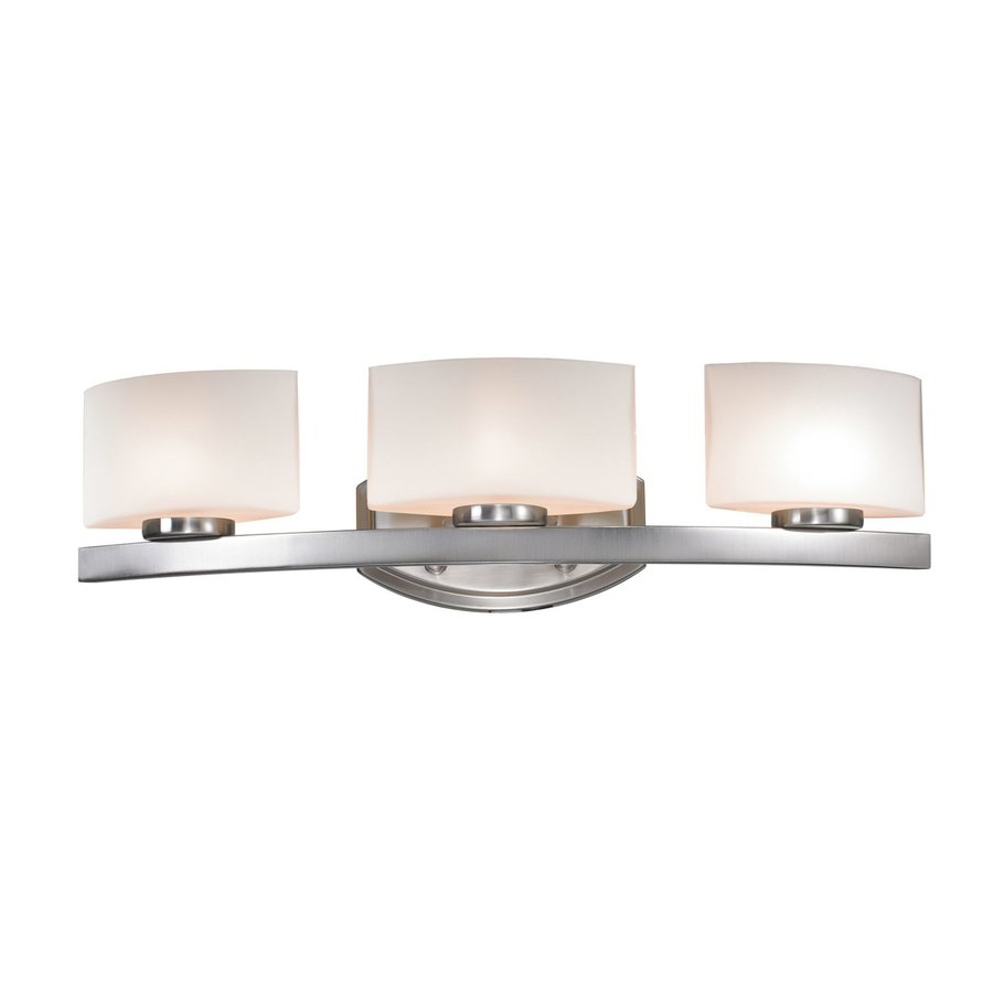 lite 3 light cetynia brushed nickel bathroom vanity light at. Black Bedroom Furniture Sets. Home Design Ideas