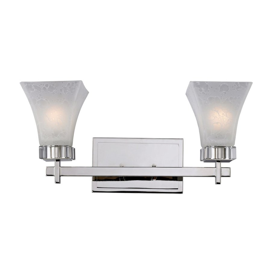 Z-Lite 2-Light Pershing Polished Nickel Crystal Accent Bathroom Vanity Light