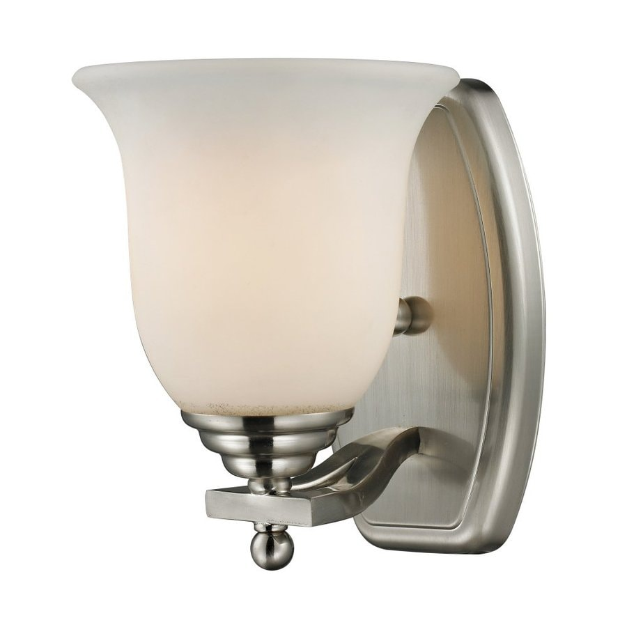 Z-Lite Lagoon 7.5-in W 1-Light Brushed Nickel Arm Hardwired Wall Sconce