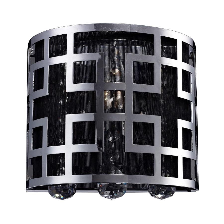 Z-Lite Mirach 7.48-in W 1-Light Chrome Crystal Accent Pocket Hardwired Wall Sconce
