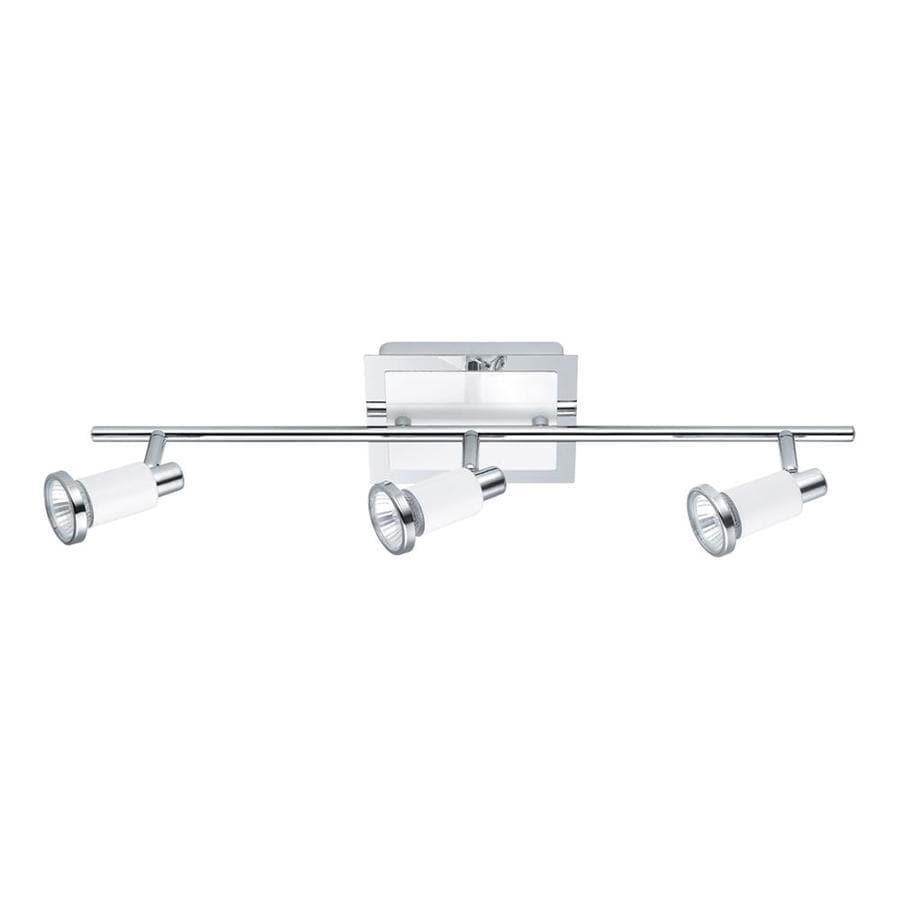 EGLO Eridan 3-Light 22.875-in Chrome/Shiny White Fixed Track Light Kit