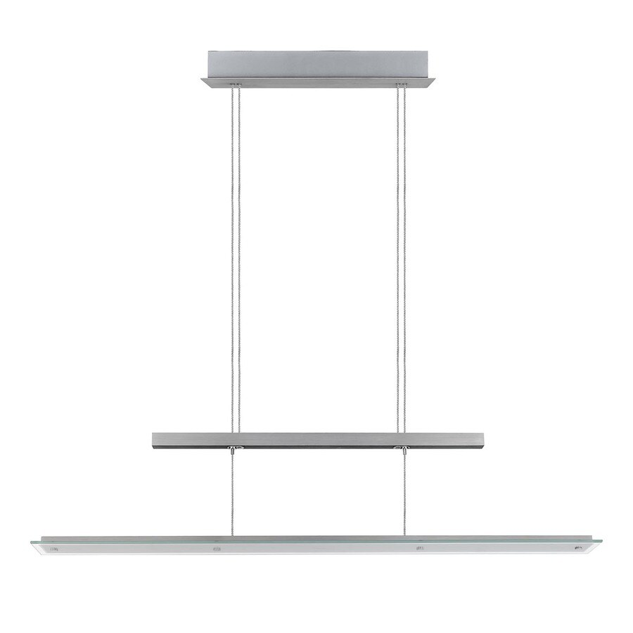 EGLO Agosta 4.875-in W Silver LED Kitchen Island Light with Clear Shade