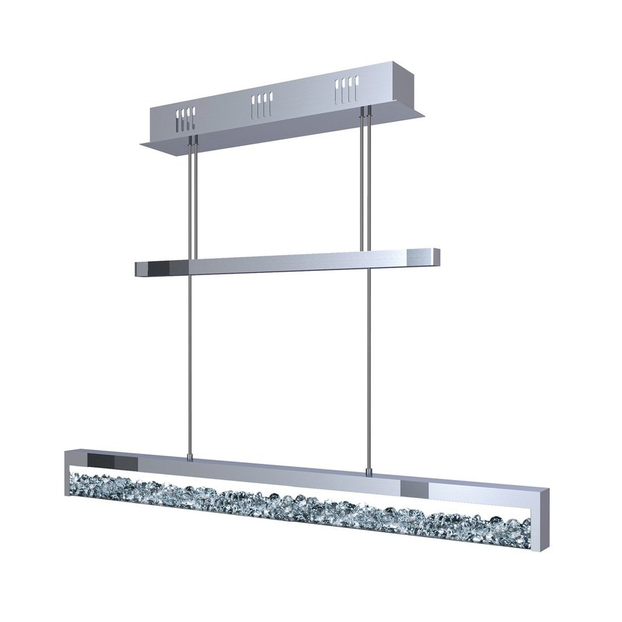 Shop Eglo Cardito W Chrome Led Kitchen Island Light With Crystal Shade At