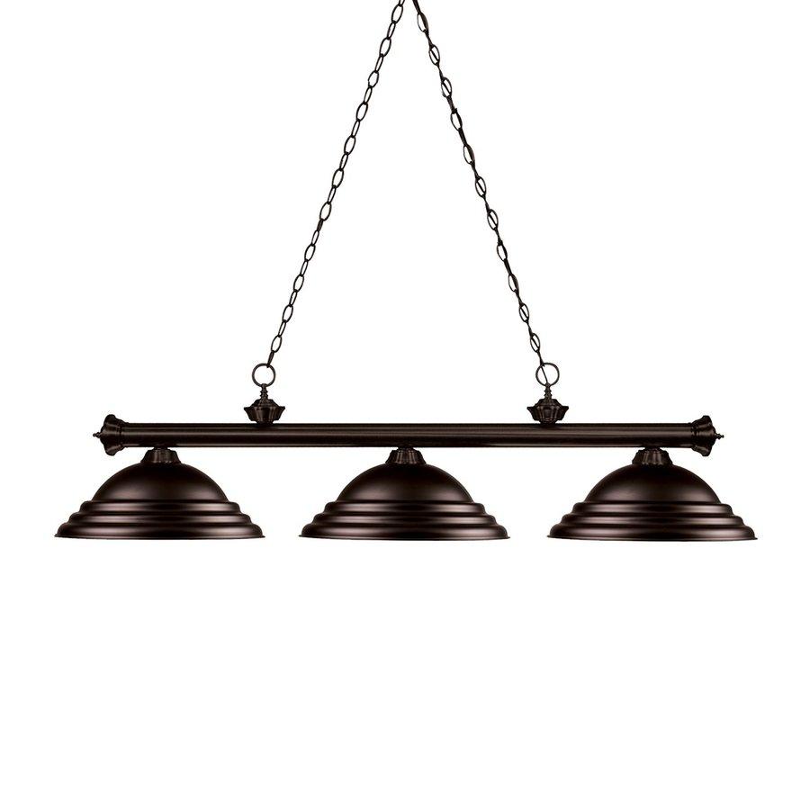 Shop Z Lite Riviera 16 in W 3 Light Bronze Kitchen Island Light with