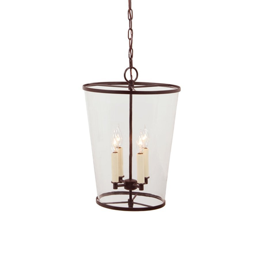 JVI Designs Charleston 13-in Oil-Rubbed Bronze Single Clear Glass Cylinder Pendant