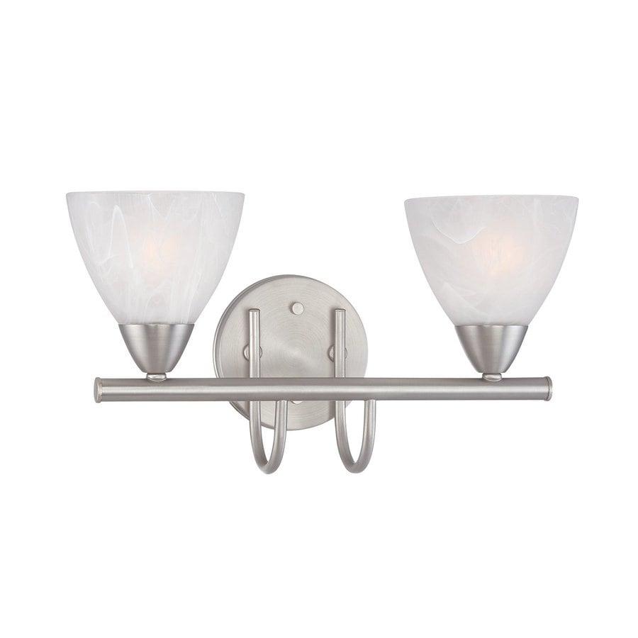 Thomas Lighting 2-Light Tia Matte Nickel Bathroom Vanity Light