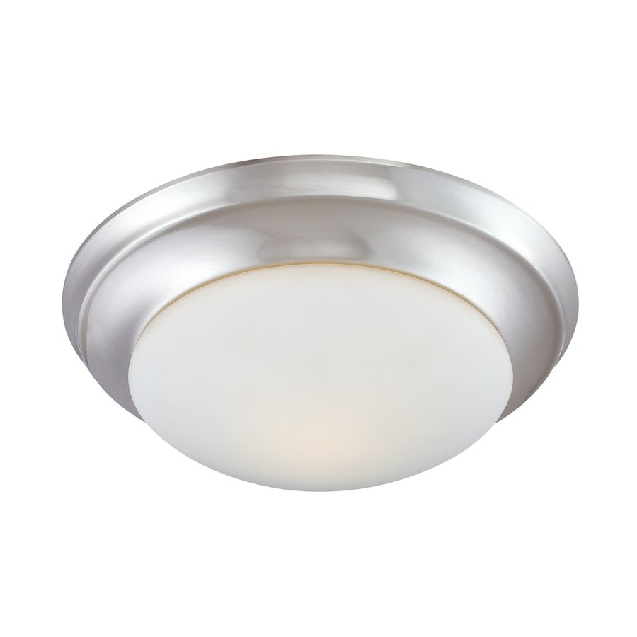 Lowes Ceiling Lights Flush : Thomas lighting in w brushed nickel ceiling