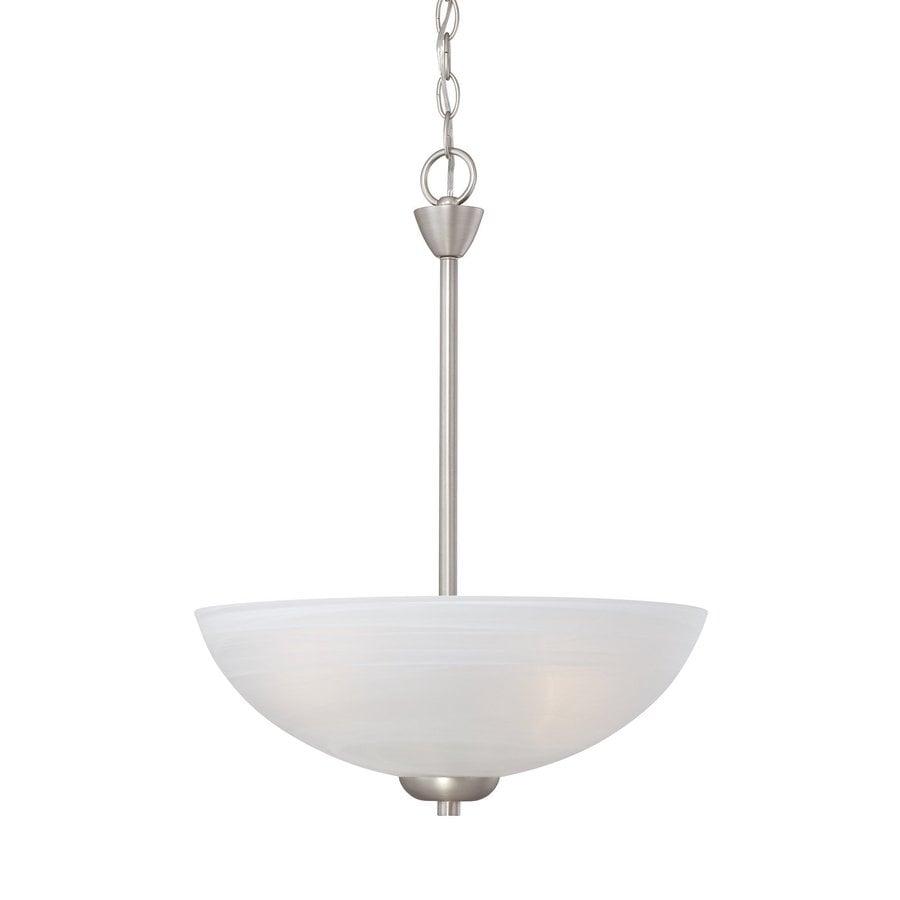 Thomas Lighting Tia 15.75-in Matte Nickel Bowl Pendant