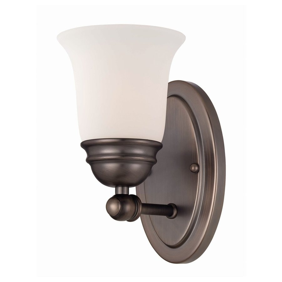 Thomas Lighting Bella 4.5-in W 1-Light Oiled Bronze Arm Hardwired Wall Sconce