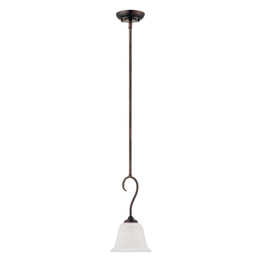 Millennium Lighting Cleveland 6.6-in Bronze Mini Bell Pendant