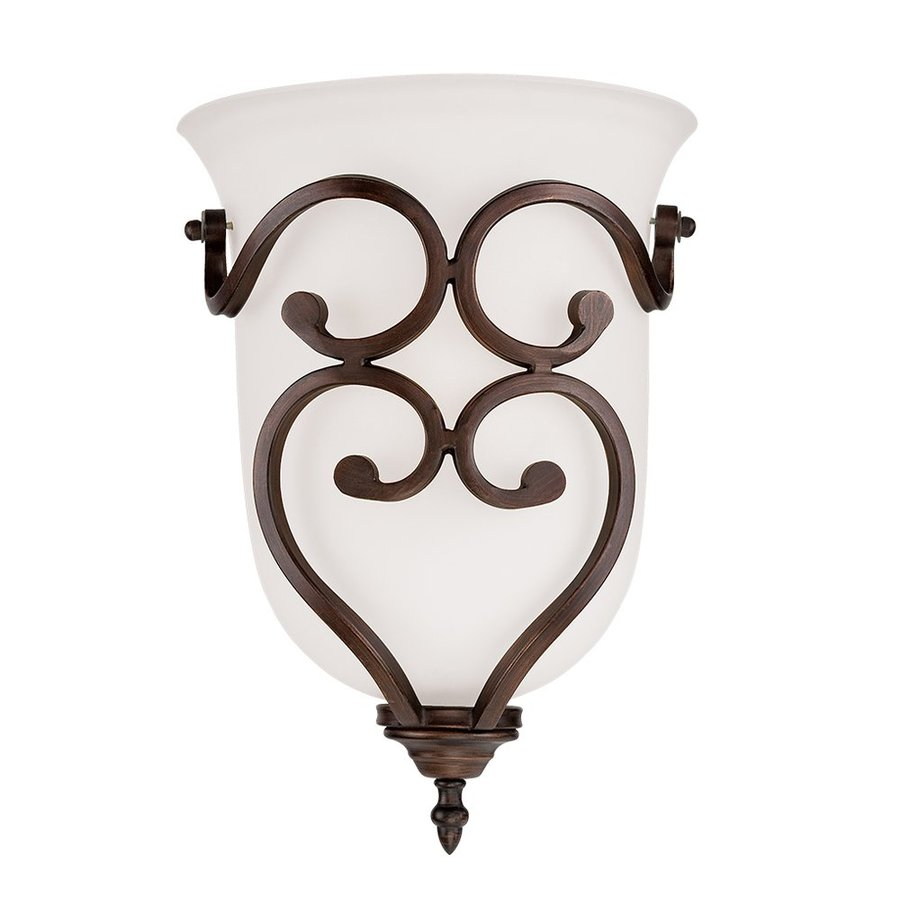 Millennium Lighting Courtney Lakes 10-in W 1-Light Rubbed Bronze Pocket Wall Sconce