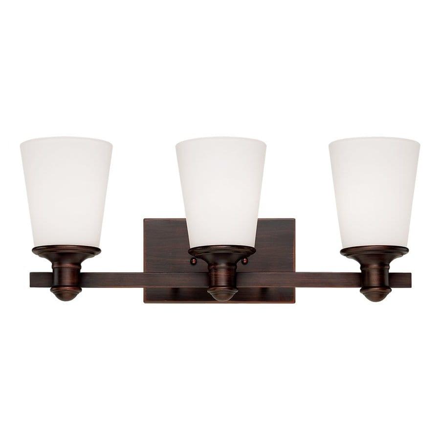 Millennium Lighting 3-Light Cimmaron Rubbed Bronze Standard Bathroom Vanity Light