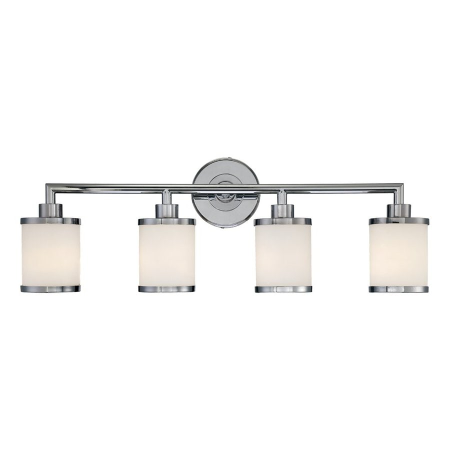 Shop millennium lighting 4 light chrome standard bathroom for 4 light bathroom fixture