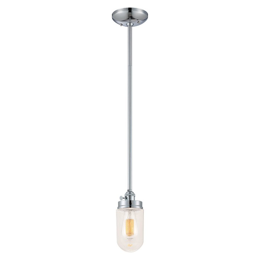 Millennium Lighting Neo-Industrial 4.5-in Chrome Industrial Mini Clear Glass Jar Pendant