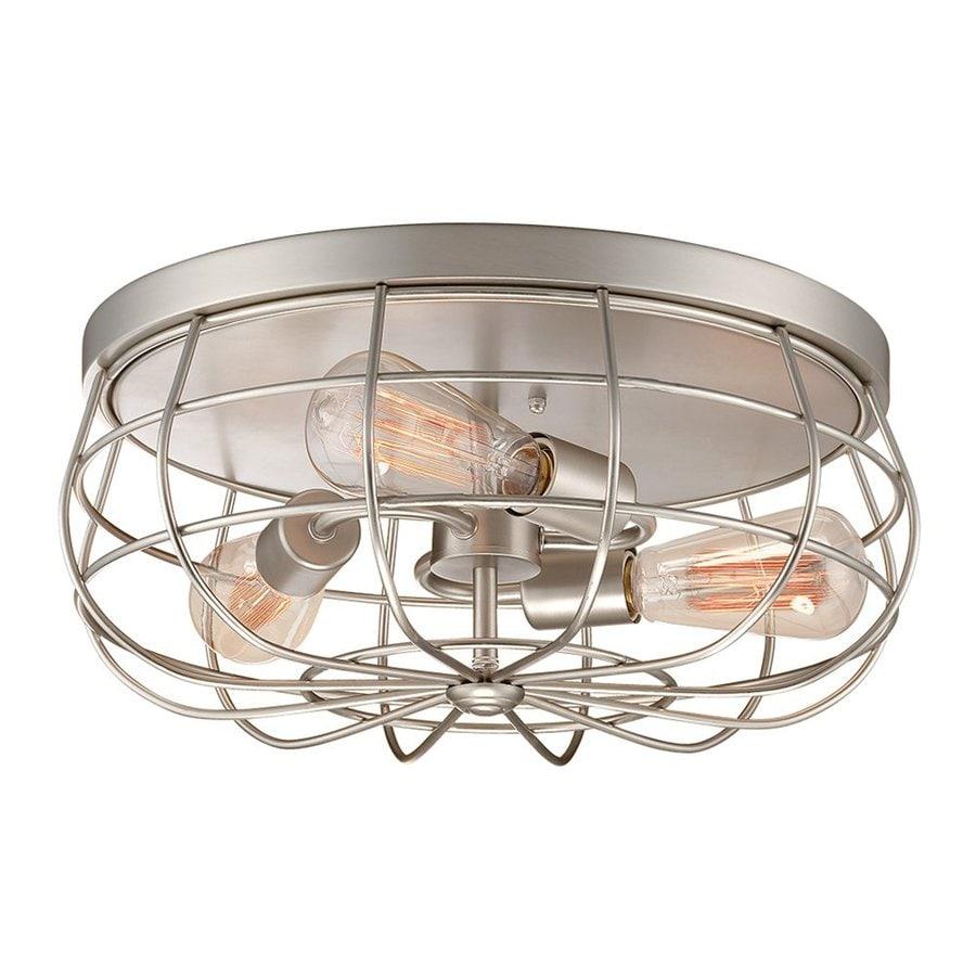 Flush Mount Kitchen Lighting: Shop Millennium Lighting Neo-Industrial 15.5-in W Satin