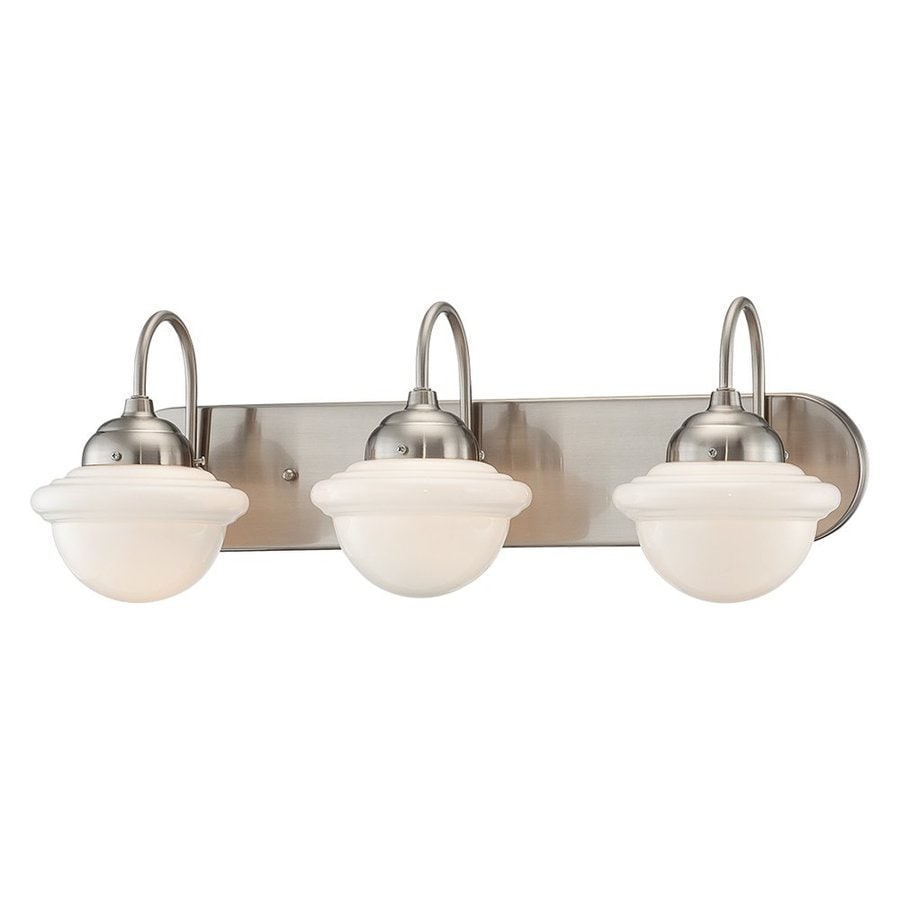 Bathroom Vanity Lights Industrial : Shop Millennium Lighting 3-Light Neo-Industrial Satin Nickel Standard Bathroom Vanity Light at ...