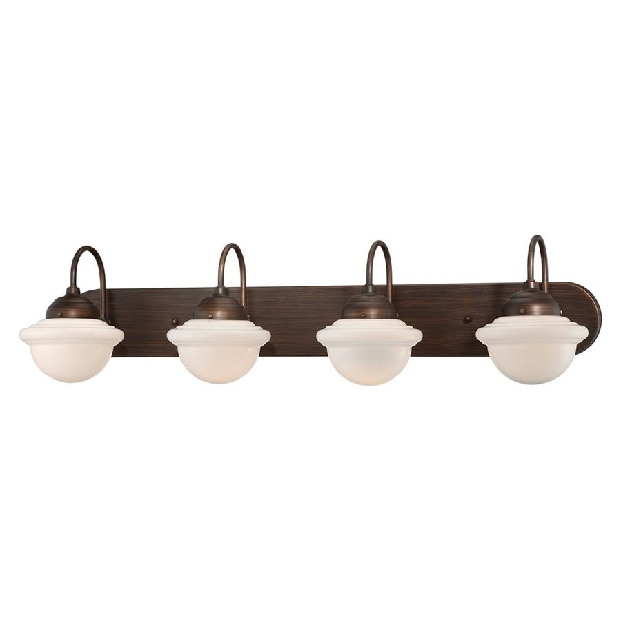 Bathroom Vanity Lights Industrial : Shop Millennium Lighting 4-Light Neo-Industrial Rubbed Bronze Standard Bathroom Vanity Light at ...