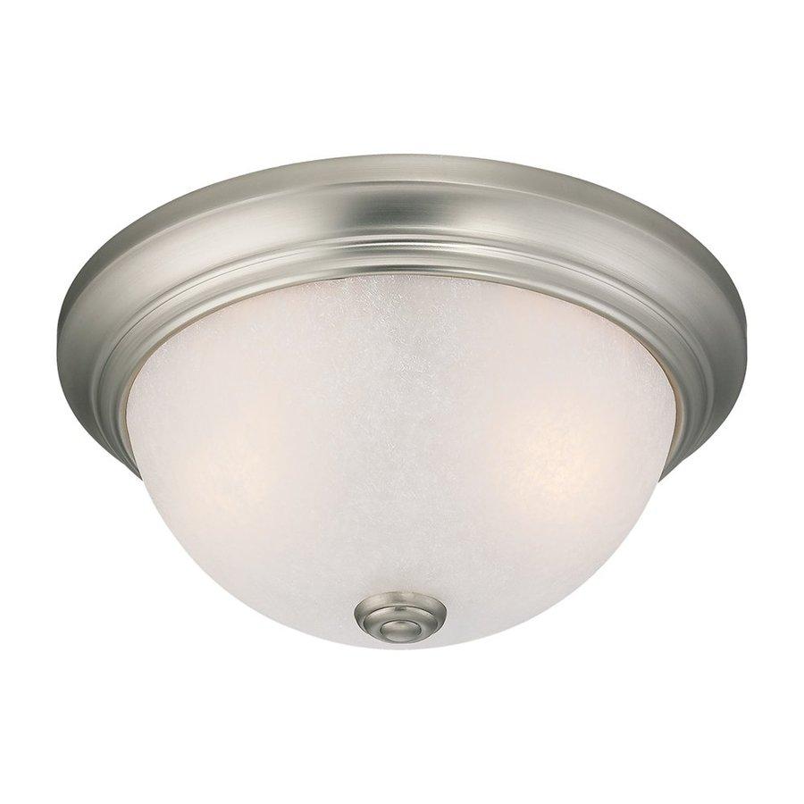 Millennium Lighting 11-in W Satin Nickel Ceiling Flush Mount Light