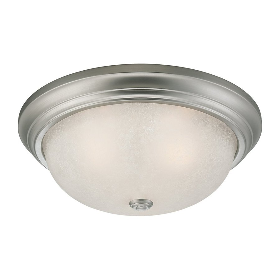 Millennium Lighting 13-in W Satin Nickel Ceiling Flush Mount Light