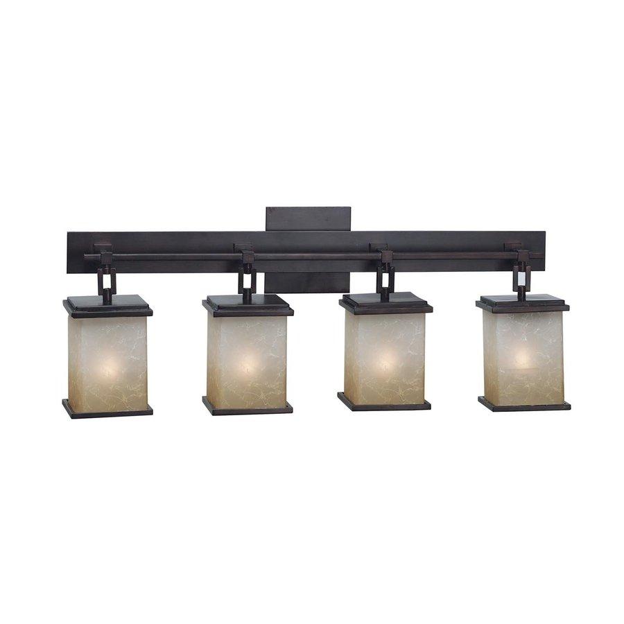 Kenroy Home 4-Light Plateau Oil Rubbed Bronze Standard Bathroom Vanity Light