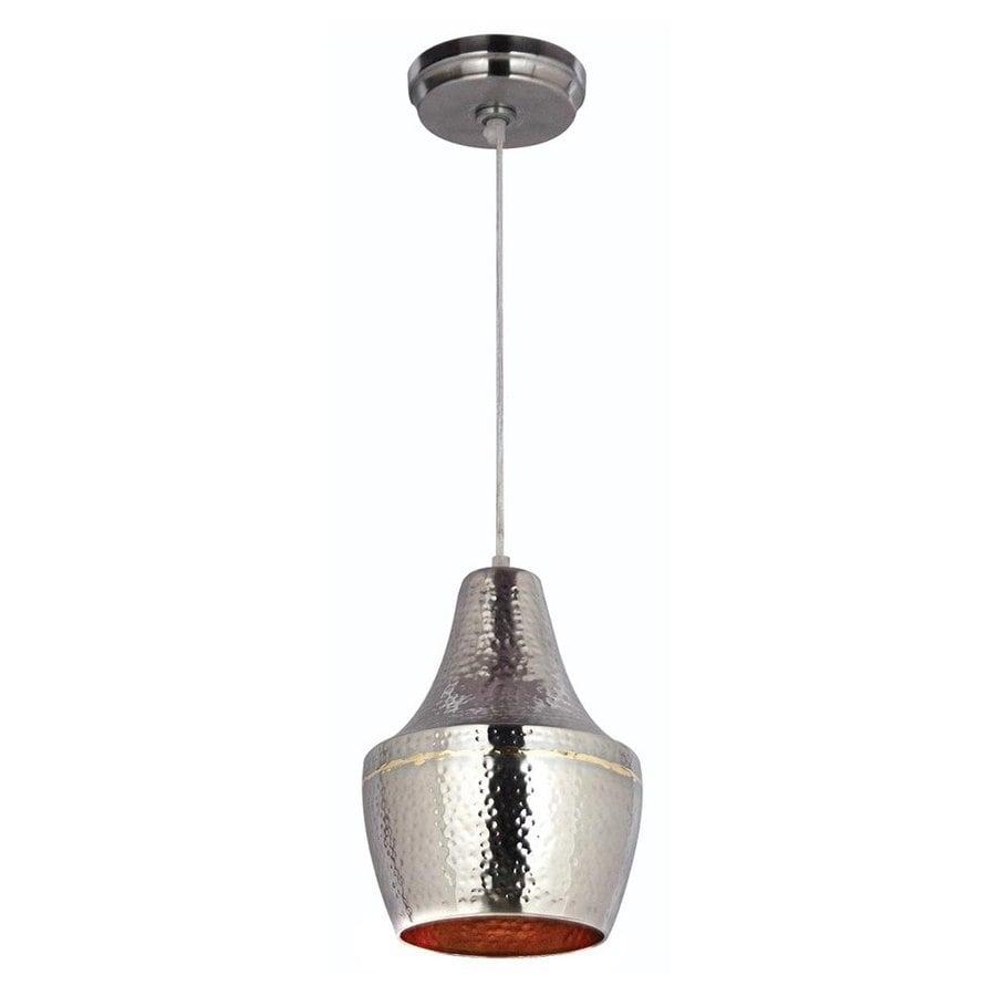 Kenroy Home Dervish 7.75-in Hammered Nickel Industrial Mini Teardrop Pendant