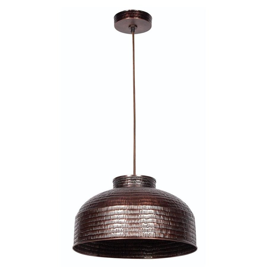 Kenroy Home 16-in Copper Vintage Single Dome Pendant