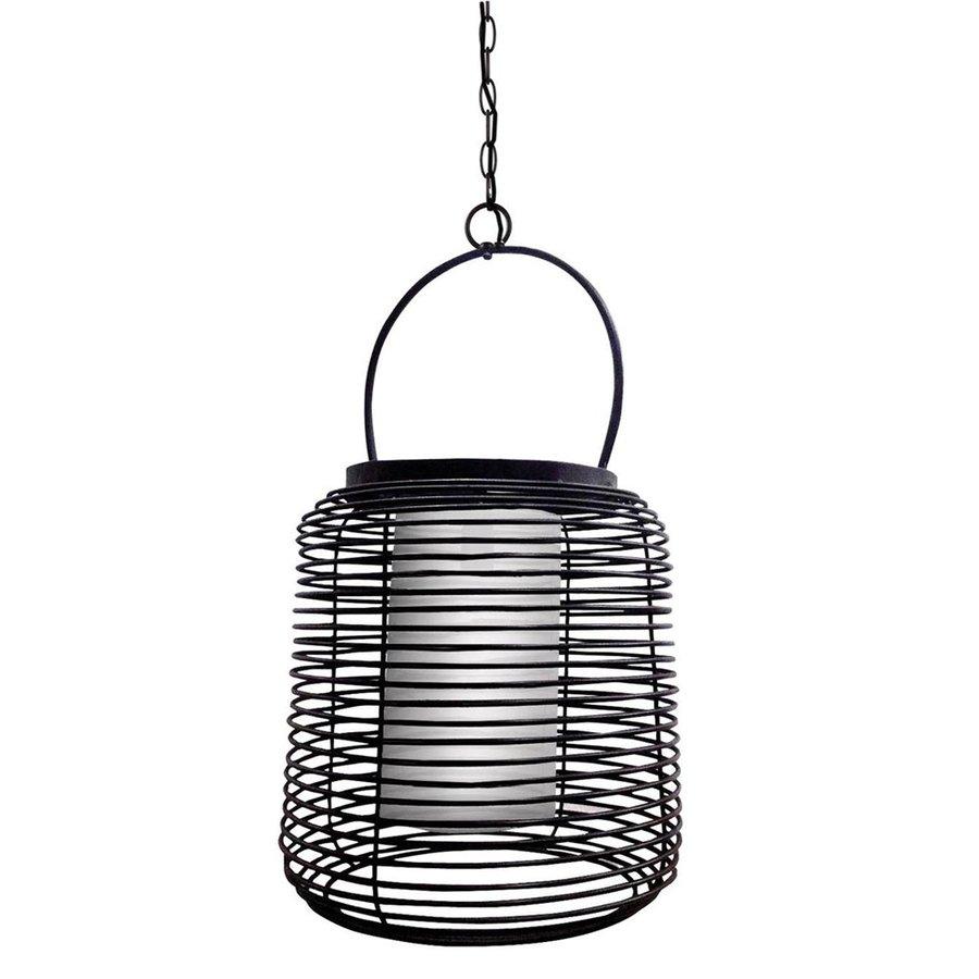 Kenroy Home Foundry 17-in Black Coastal Single Lantern Pendant