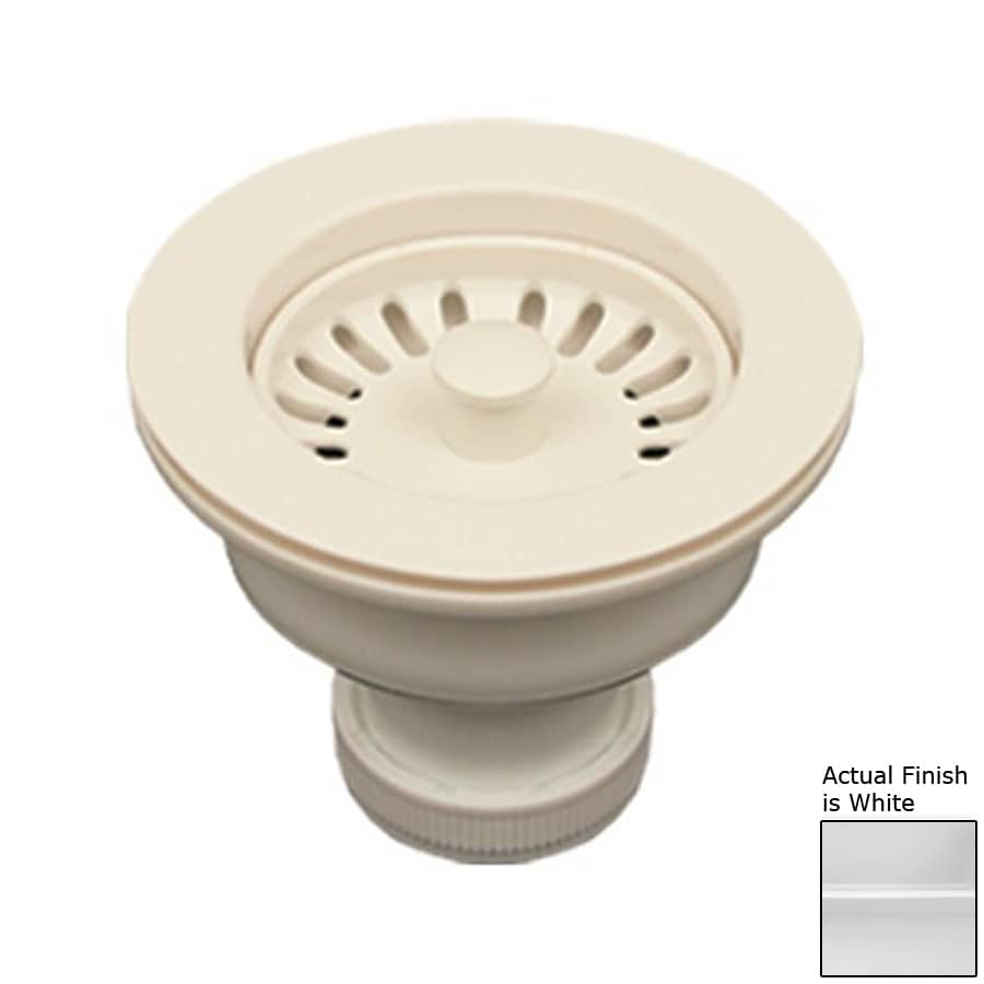 Plastic Kitchen Sink : ... Collection 3.5-in White Plastic Fixed Post Kitchen Sink Strainer
