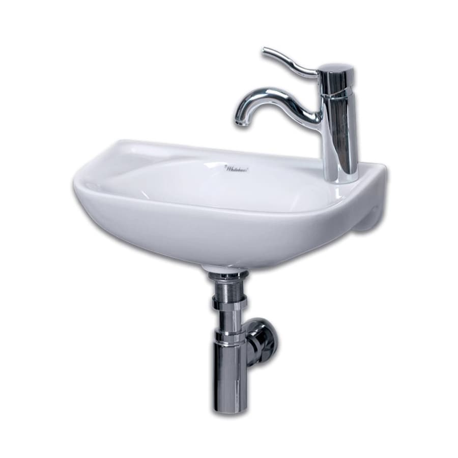 Whitehaus Collection Isabella White Wall-Mount Semi-Circle Bathroom Sink