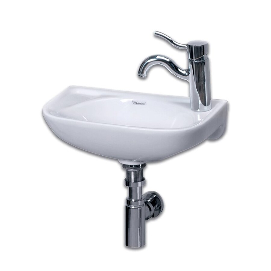 Lowes Wall Mount Sink : ... Isabella White Wall-Mount Semi-Circle Bathroom Sink at Lowes.com
