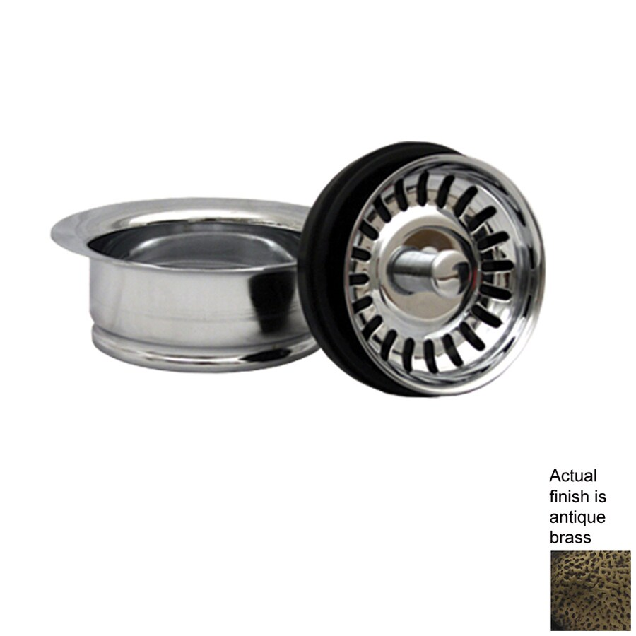 Whitehaus Collection 3.5-in Dia Stopper Sink Strainer and Disposal Flange Combo
