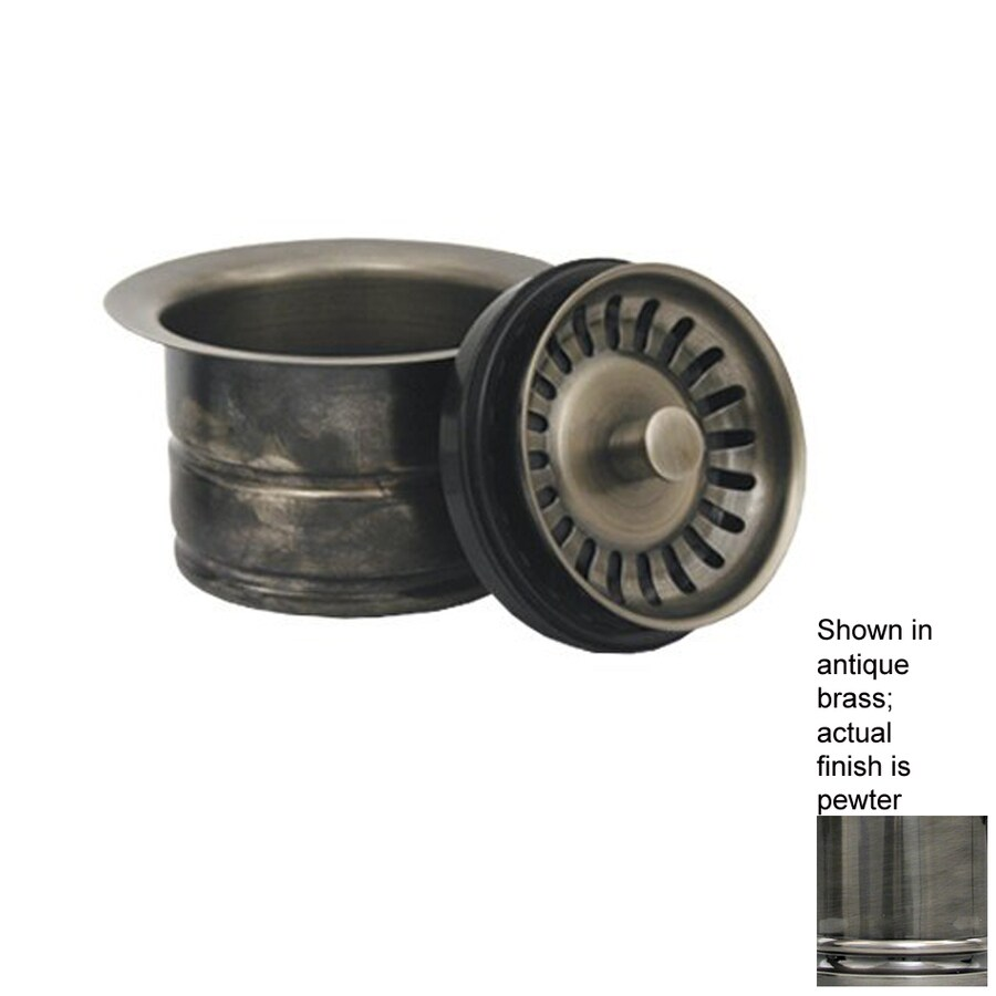 Whitehaus Collection 5-in Dia Stopper Sink Strainer and Disposal Flange Combo