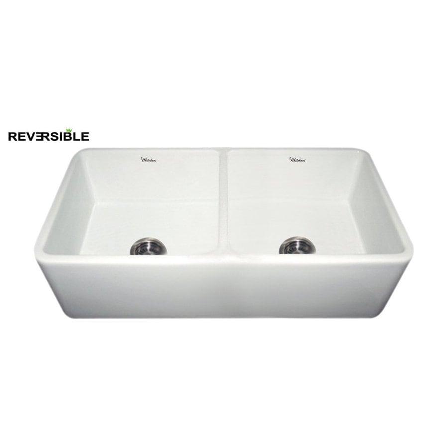 36 Farmhouse Sink White : ... 36.75-in White Double-Basin Fireclay Apron Front/Farmhouse Kitchen