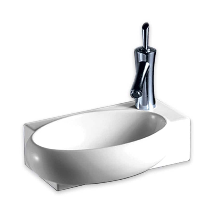 ... Collection Isabella White Wall-Mount Oval Bathroom Sink at Lowes.com