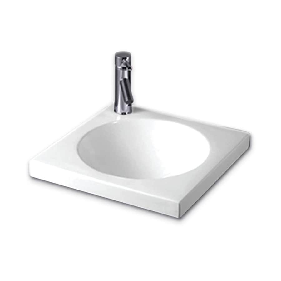 Whitehaus Collection Isabella White Drop-In Square Bathroom Sink
