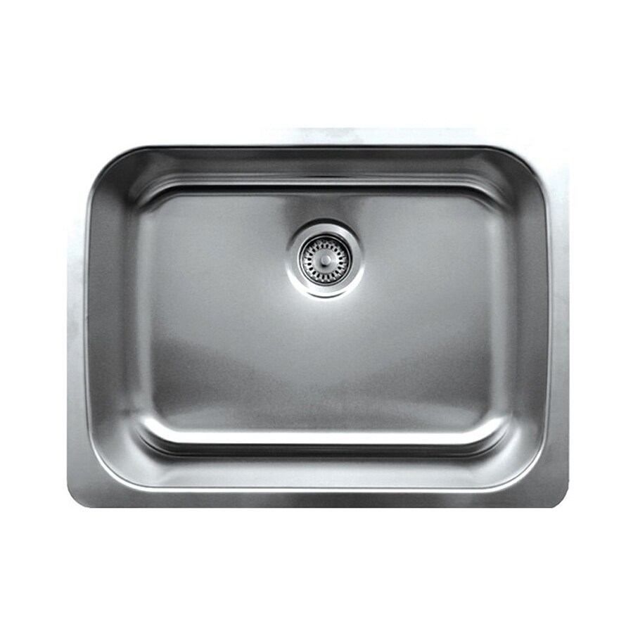 Whitehaus Collection Noah's 19.25-in x 25.25-in Brushed Stainless Steel Single-Basin Undermount Residential Kitchen Sink