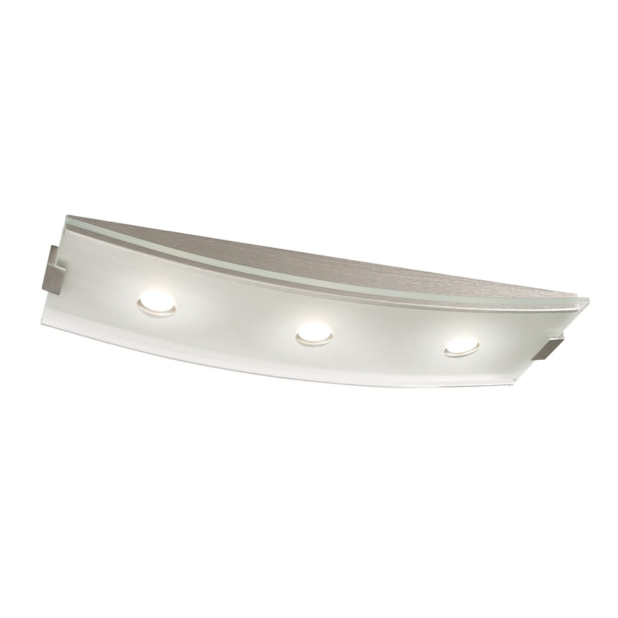 Philips Altena 7.9-in W Brushed Nickel LED Ceiling Flush Mount Light