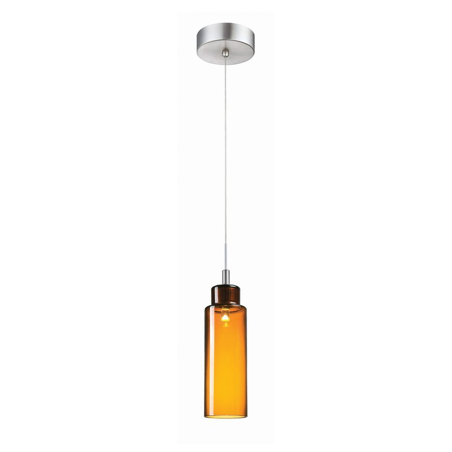 Philips Harmonize 3-in Satin Nickel Mini Tinted Glass Jar Pendant