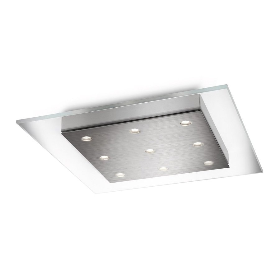 Philips Matrix 15-in W Brushed Nickel LED Ceiling Flush Mount Light