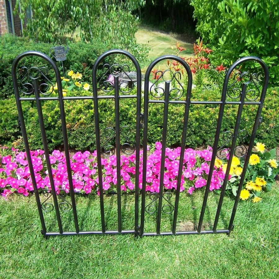 living black garden fencing actual 1 in x at